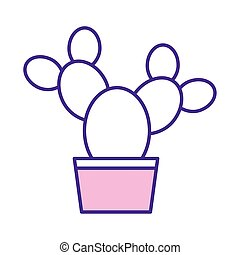 Isolated cactus plant line style icon vector design