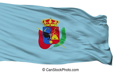 Isolated Cajamarca city flag, Peru - Cajamarca flag, city of...