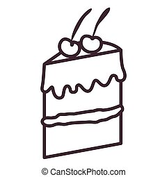 Isolated cake silhouette design