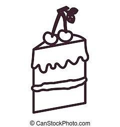 Isolated cake silhouette design