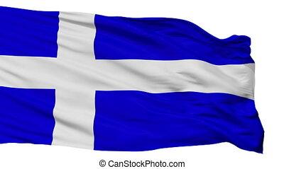 Isolated Calais city flag, France - Calais flag, city of...