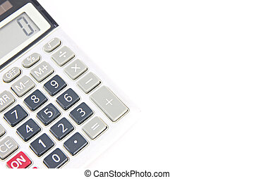 isolated., calculatrice, vieux