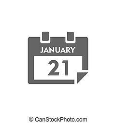 Isolated calendar icon on white background