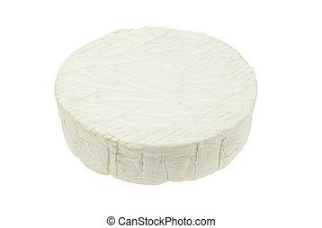 isolated camembert cheese - Round soft camembert cheese ...