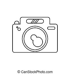 Isolated camera gadget design - Camera icon. device gadget...