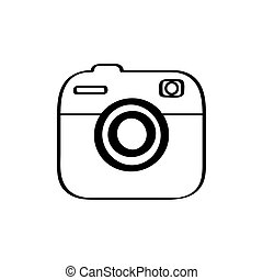 Isolated camera icon on a white background