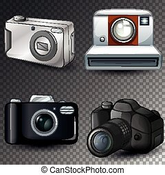 Isolated camera on transparent background