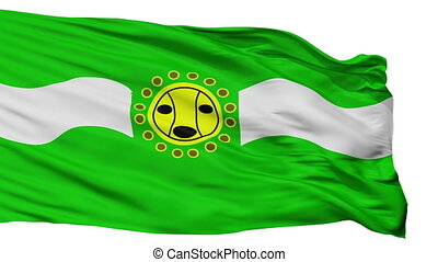 Isolated Camuy city flag, Puerto Rico - Camuy flag, city of...