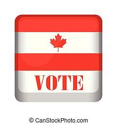 Isolated Canada campaign button. Vector illustration design