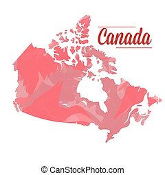 Isolated Canadian map