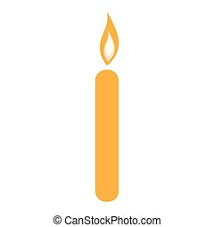 Isolated candle icon