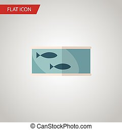 Isolated Canned Fish Flat Icon. Tin Tuna Vector Element Can Be Used For Canned, Fish, Tuna Design Concept.
