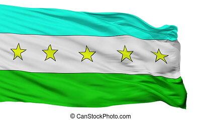 Isolated Canton city flag, Costa Rica - Canton flag, city of...
