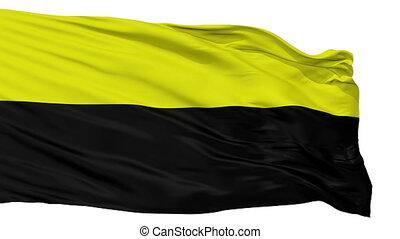 Isolated Canton de Dota city flag, Costa Rica - Canton de...