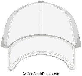Isolated cap on white background