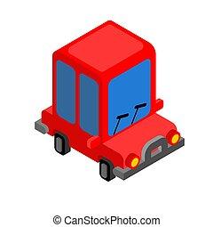 isolated., car, brinquedo, ilustração, caricatura, plaything, vetorial, automático