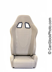 isolated car seat - sport racing auto car seat isolated on...