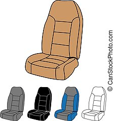 Isolated Car Seat