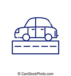 Isolated car vehicle and street vector design