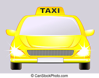 isolated car with taxi sign