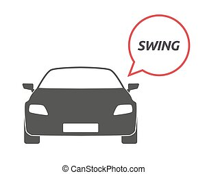 Isolated car with    the text SWING
