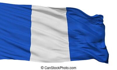 Isolated Carmona city flag, Spain - Carmona flag, city of...