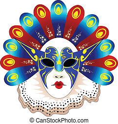 Isolated carnival mask - Isolated carnivalmask
