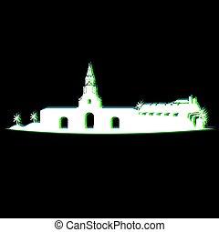 Isolated Cartagena cityscape