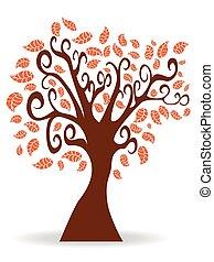 cartoon autumn tree