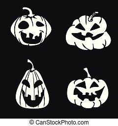 cartoon Halloween pumpkin face icon