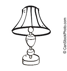 Isolated Cartoon Lamp Symbol Illustration