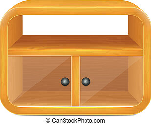 Isolated Cartoon Vector Cupboard