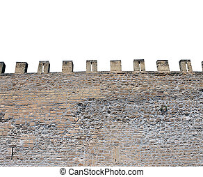 Isolated castle battlements