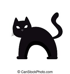 Isolated cat silhouette
