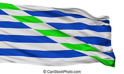 Isolated Catano city flag, Puerto Rico - Catano flag, city...