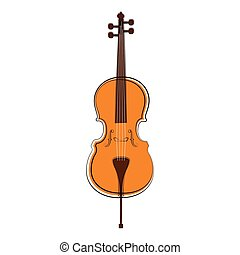Isolated Cello Sketch Musical Instrument