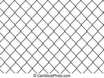 Isolated chain link fence - Editable and isolated chain link...