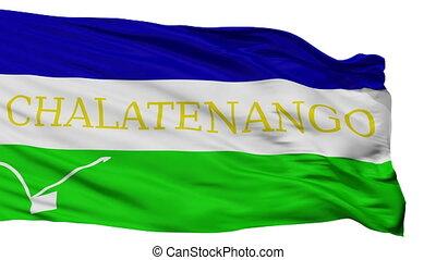 Isolated Chalatenango city flag, El Salvador - Chalatenango...