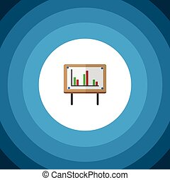 Isolated Chart Flat Icon. Whiteboard Vector Element Can Be Used For Chart, Whiteboard, Presentation Design Concept.