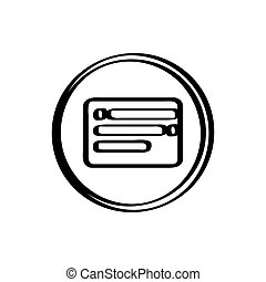 Isolated chat icon on a white background