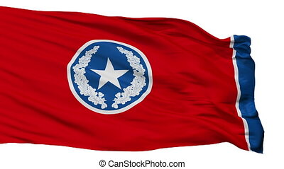 Isolated Chattanooga city flag, USA