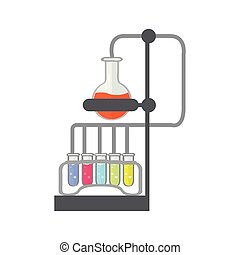 Isolated chemical experiment image