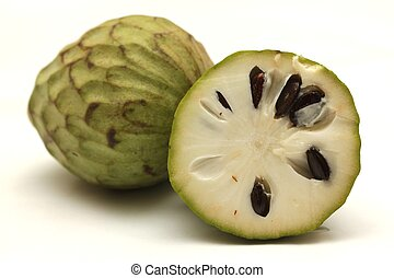isolated cherimoya fruit
