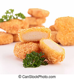 isolated chicken nugget