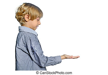 isolated child boy