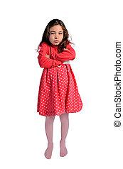 child girl unhappy