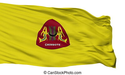 Isolated Chimbote city flag, Peru - Chimbote flag, city of...