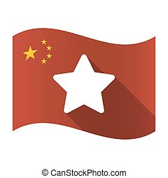Isolated China flag with a star