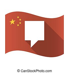Isolated China flag with a tooltip