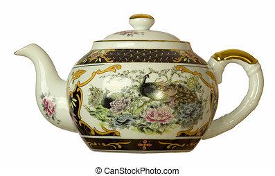 isolated chinese tea jug